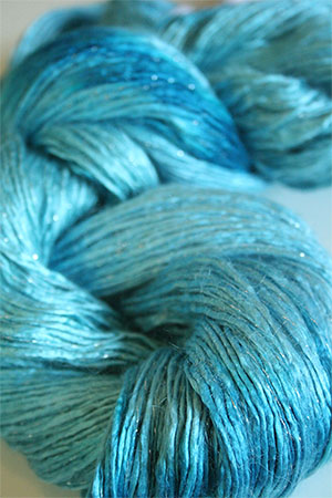 Artyarns Silk Rhapsody Glitter mohair in 107 Oceans with Silver