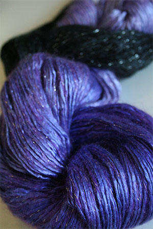Artyarns Silk Rhapsody Glitter in 138 Purple Royal with Silver