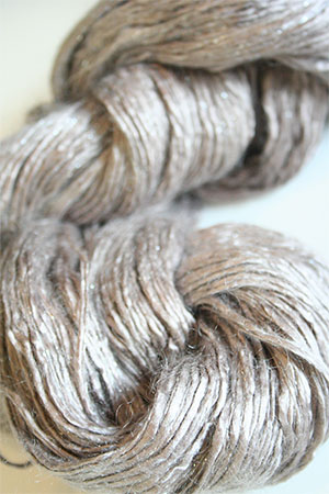 Artyarns Silk Rhapsody Glitter in 249 Mink with Silver Glitter
