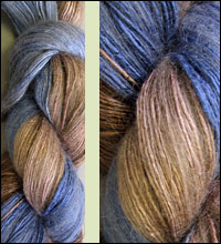 ARTYARNS Silk Rhapsody yarn in 143 Taupes and Blues