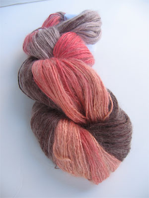 Silk Rhapsody Mohair in 141 Orange Cocoa