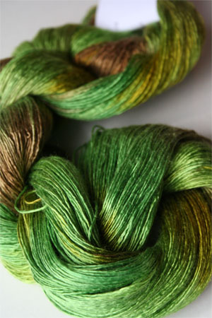 Artyarns Silk Essence in H32 Go Green!