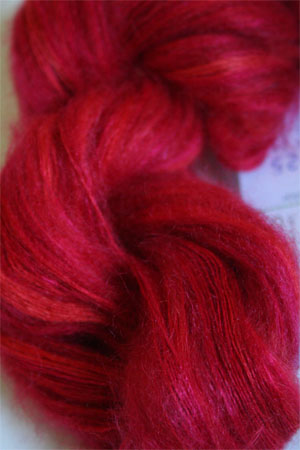 Artyarns Silk Mohair Yarn Color H25 Hot Vivid Coral Pink