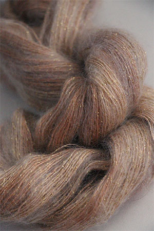 Artyarns Silk Mohair yarn with glitter in 137 Cappucino