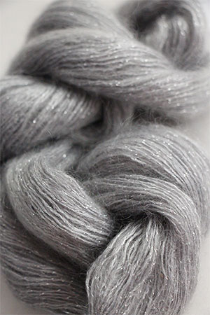 artyarns silk mohair glitter in 272 SIlver