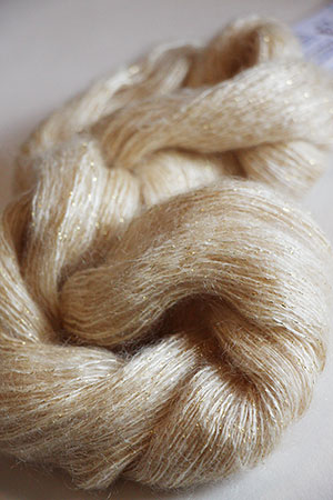 Artyarns Silk Mohair in 223 Vanilla with Gold