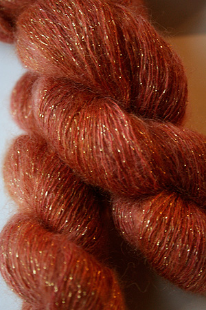 artyarns silk mohair glitter in 222 Gold