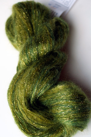 artyarns silk mohair glitter in H22 Gold