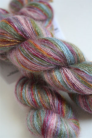 artyarns silk mohair glitter in 1015 silver