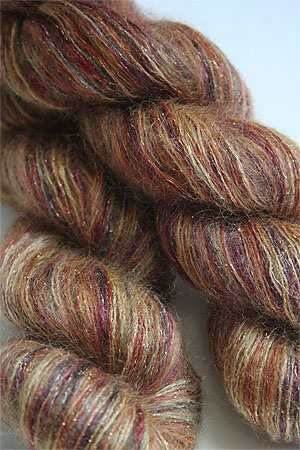 artyarns silk mohair glitter in 1018 Gold