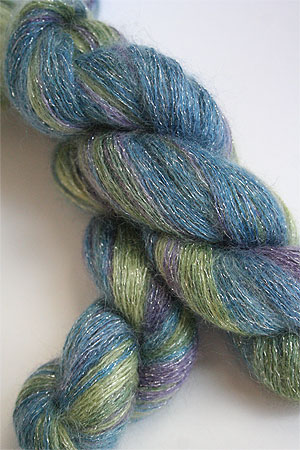 artyarns silk mohair glitter in 123 Silver
