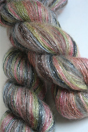 artyarns silk mohair glitter in 1028 Silver