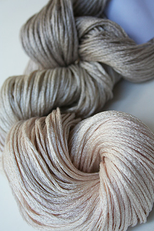 Artyarns Silk Pearl in color 167 Oyster Pearl