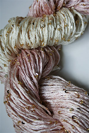 rtyarns silk pearl with beads and sequins in 128g