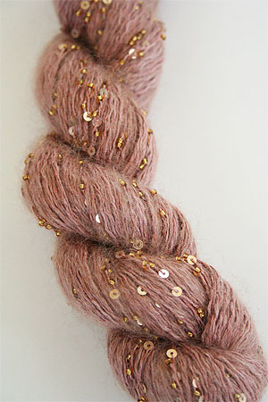 Artyarns Splash Yarn In 271g Peach With Gold Beads And Sequins