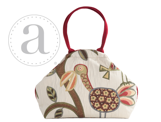 Atenti Designs Betty Knitting Bag in Birdy Natural
