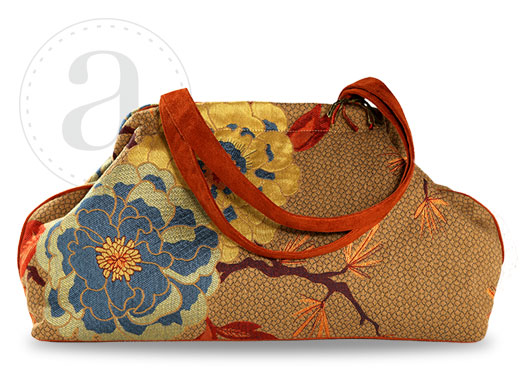 Atenti Doctors Bag in Blue Dahlia