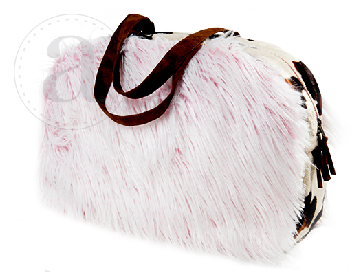 Atenti Bags Red Fur Overnighter