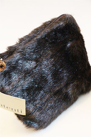 Atenti Knitting Pouch in Mink Faux Fur