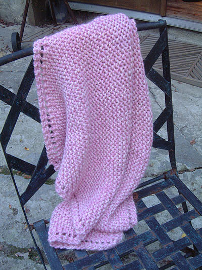 Free Knitting Pattern :: Very Easy Baby Blanket