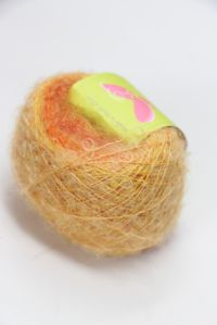 Be Sweet Mohair Self Striping Boucle Yarn Orange Carnival