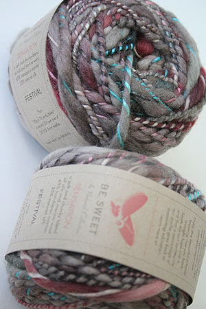 Be Sweet Sensation Thick Merino and Silk Yarn in Festival