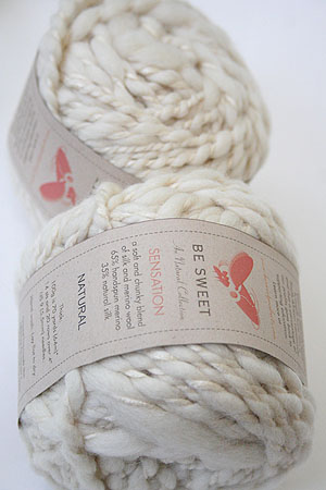 Be Sweet Sensation Merino and Silk Yarn in Natural