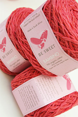 Be Sweet Bambino Yarn in dark peach