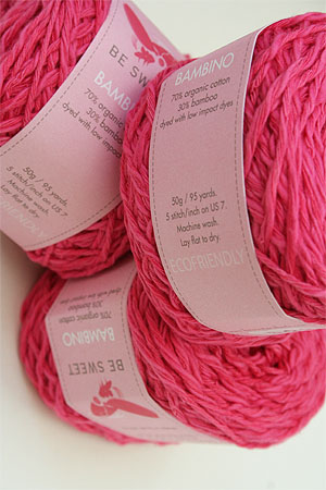 Be Sweet Bambino Yarn in candy pink