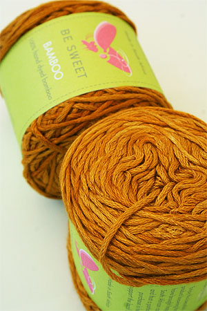 Be Sweet Bamboo Yarn in 604 Mustard