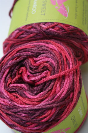 Be Sweet Bamboo Yarn in Raspberry Sorbet