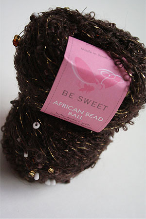 be sweet african beaded ball yarn