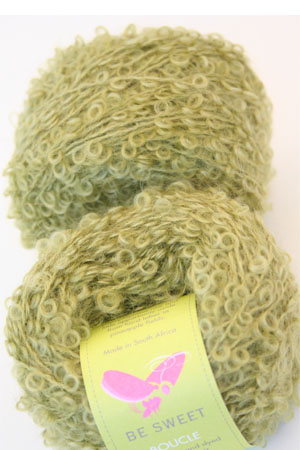 Mohair Boucle in Green Potion