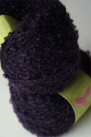 Mohair Boucle in Dark Blue Plum