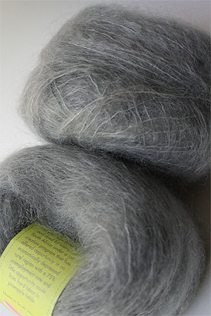 Be Sweet Medium Brushed Mohair in Light Grey