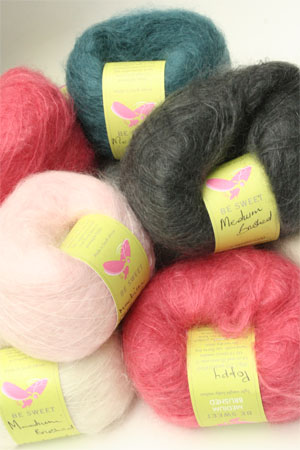 Be Sweet Medium Brushed Mohair Yarn