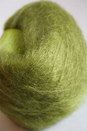Be Sweet Medium Brushed Mohair in Green Potion
