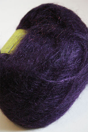 Be Sweet Brushed Mohair in Dark Blue Plum