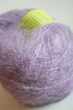 Be Sweet Brushed Mohair in Pale Mauve