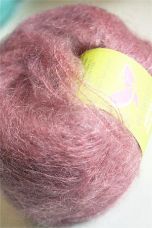 Be Sweet Brushed Mohair in Ash Pink
