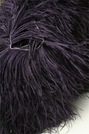 Be Sweet Dark Blue Plum Ostrich Feather Knitting Trim