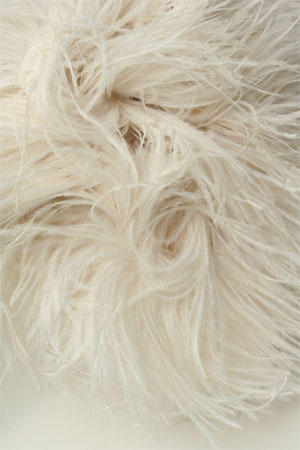 Be Sweet Natural Ostrich Feather Knitting Trim