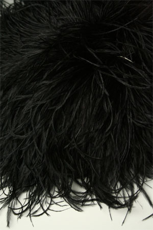 Be Sweet Ostrich Feather Knitting Trim in BLACK