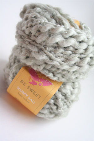 Be Sweet Slubby Mohair Yarn in Eau De Nil
