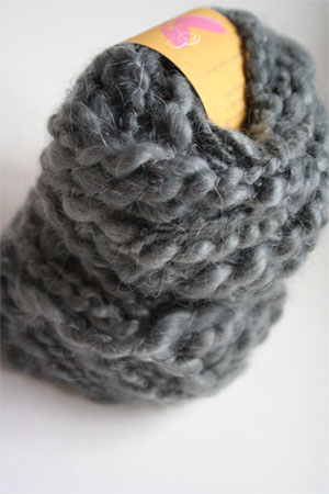 Be Sweet Slubby Mohair Yarn in Dark Grey