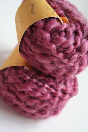Be Sweet Slubby Mohair Yarn in Heather