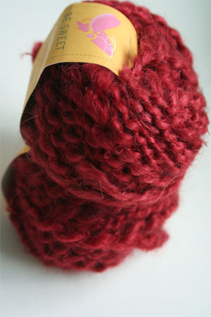 Be Sweet Slubby Mohair Yarn in Burnt Red