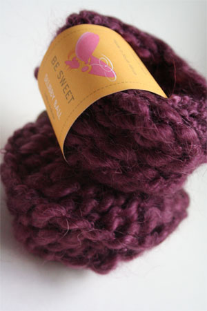 Be Sweet Slubby Yarn in Aubergine