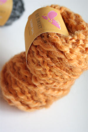 Be Sweet Slubby Mohair Yarn in Saffron