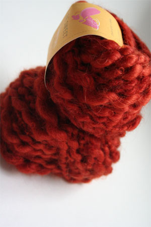 Be Sweet Slubby Mohair Yarn in Dark Rust